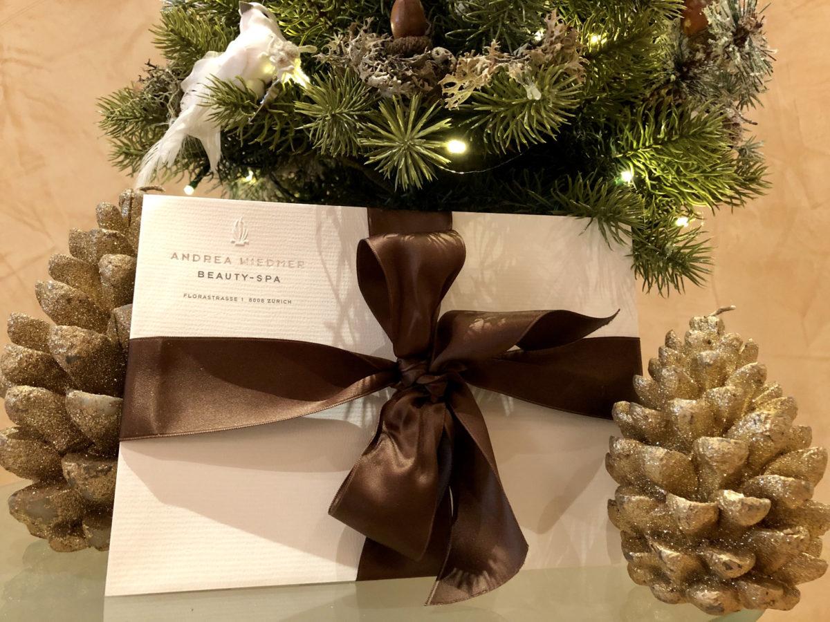Gutschein Weihnachten Andrea Wiedmer Beauty Spa